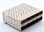 SFP+2X5 带导光棒 30U(CZT脚距)带CZT 下盖无小脚 白铜镀镍