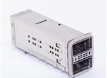 """QSFP+2X1 带导光柱 带导电胶圈30u"""" 标准型"""