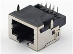 RJ45沉板式单胞插座8P无铁壳 带LED