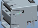 USB A 母 双层 沉板式