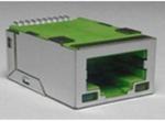 TAB-UP 0.9英寸 6U 无弹片 带LED 4个磁环  左绿右黄 无圆柱