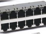 RJ45 2X6 10P8CS  6U 带弹片 无LED 4个磁环 竖排PIN针