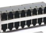 RJ45 2X8 8P8CS  6U 带弹片 无LED 4个磁环  竖排PIN针 带GDT(防雷)