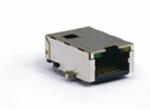TAB-UP 23.75mm 11P8C 无弹片 带LED 4个磁环 左绿右黄 沉板式(10.50)
