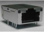 TAB-UP 24.13MM 30U 无弹片 带LED  左绿黄右绿 4个磁环 LED竖排PIN针