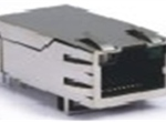 TAB-UP 1英寸 8P8C 6U 带弹片 带LED 4个磁环  后脚3.05  左黄右绿