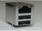RJ45+双层USB2.0 15U 无弹片 带灯 4个磁环 左绿右黄