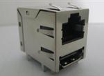 RJ45+HDMI 8P8CS 6U 带弹片 带LED 左黄右绿 鱼眼脚(W/O Transformer)