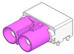 FAKRA    双包公板端卧式竞博JBO(Pitch=8mm)